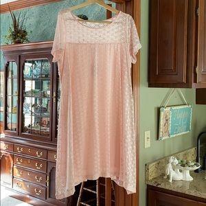 Pink Lane Bryant lace swing dress size 18/20